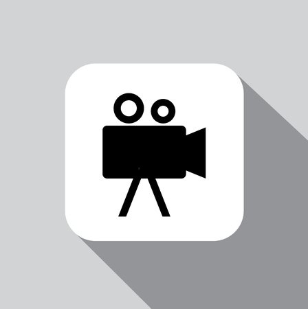 vector icon Camcorder on a background with a shadow