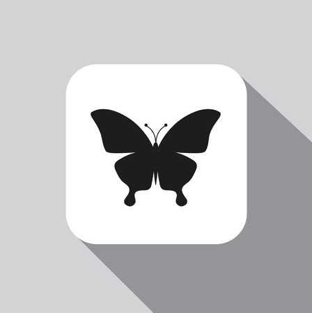 Vector icon butterfly on a background with a shadow Stock Illustratie