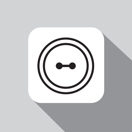 Clothes button set with needle Çizim