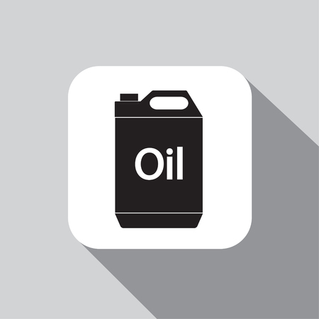 vector icon jerrycan oil on a background with a shadow