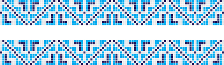 Embroidered good like handmade cross-stitch ethnic Ukraine pattern. Towel with ornament, called rushnyk in vector EPS Vettoriali
