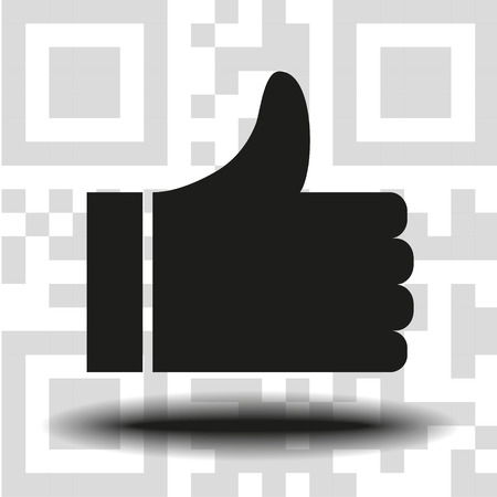 like icon vector, symbol like, sign like vector, the background QR code eps