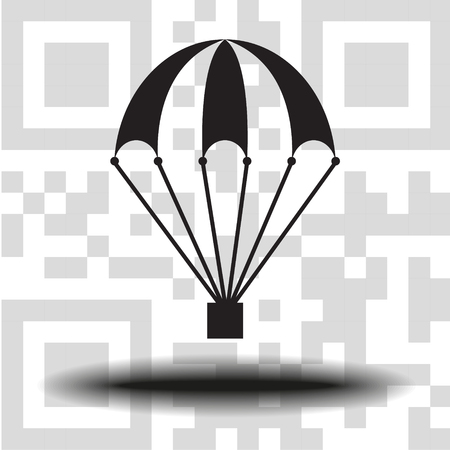Vector icon of a parachute  イラスト・ベクター素材