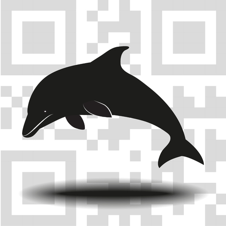 Vector icon dolphin
