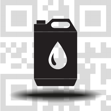 vector icon jerrycan oil