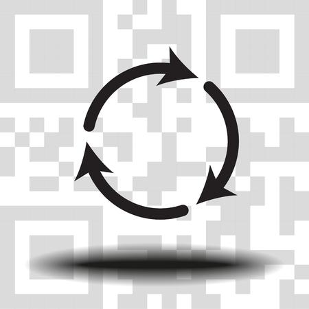 Undo Arrow Icon, Motion icon. Back arrow icon. Arrow button. the background QR code