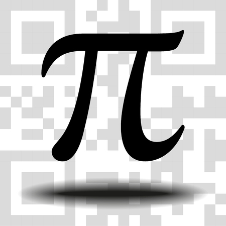 Vector sign Pi the background QR code