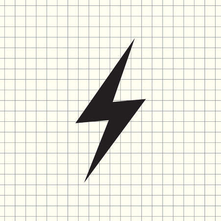 Vector icon lightning