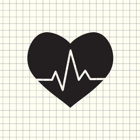 Vector icon cardiogram
