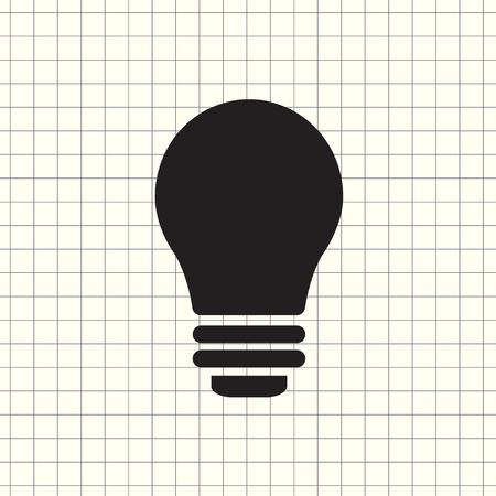 Vector icon light bulb Stockfoto - 109429852