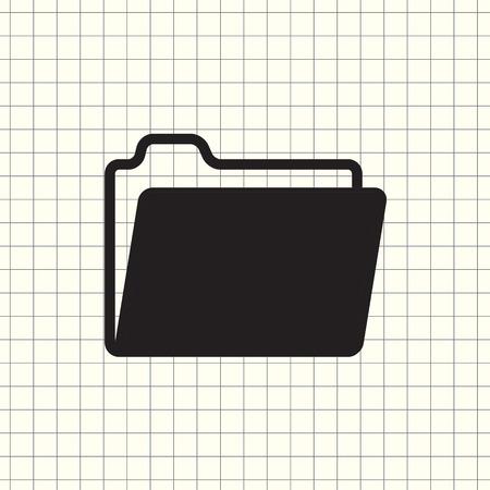 Vector icon folder Vektoros illusztráció
