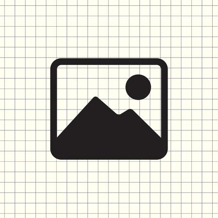 photograph vector icon