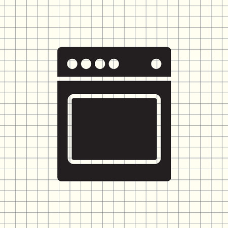 Stove icon vector Vectores