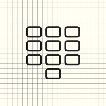 Keyboard Isolated Flat Web Mobile Icon Vector Sign Symbol Button Element Silhouette