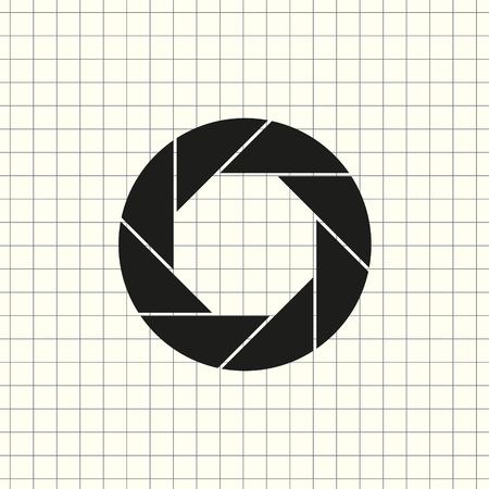 Aperture, camera lens symbol Vector Illustratie