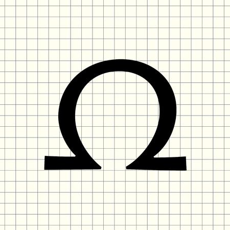 Vector omega sign