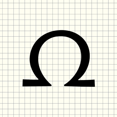 Vector omega sign