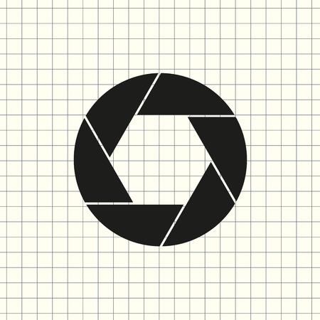 Aperture, camera lens symbol