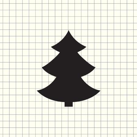 vector icon christmas tree