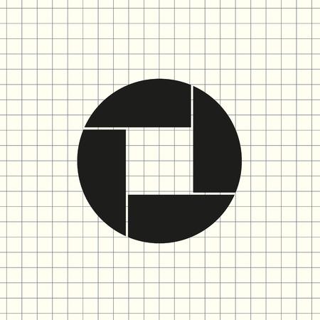 Ouverture, symbole de l'objectif de l'appareil photo
