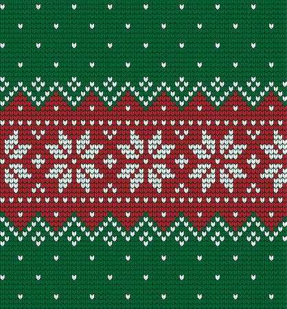 ニットクリスマスと新年パターン