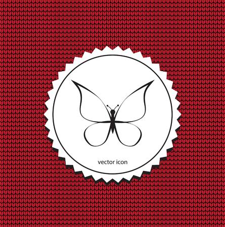 Papillon icône vecteur Vecteurs