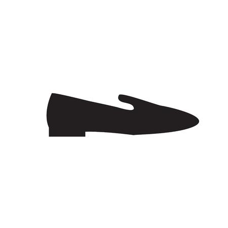 Elegant women's shoe. Menu item in the web design