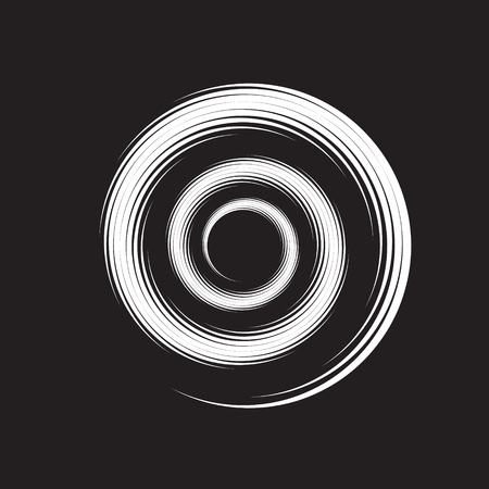 Concentric Circle Elements Backgrounds. Abstract circle pattern. Black and white graphics. EPS Vectores