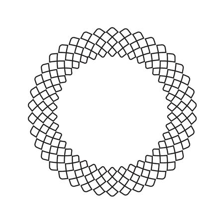 Decorative line art frames for design template. Elegant element for design in Eastern style, place for text. Black outline