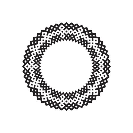 Decorative line art frames for design template. Elegant element for design in Eastern style, place for text. Black outline Illustration