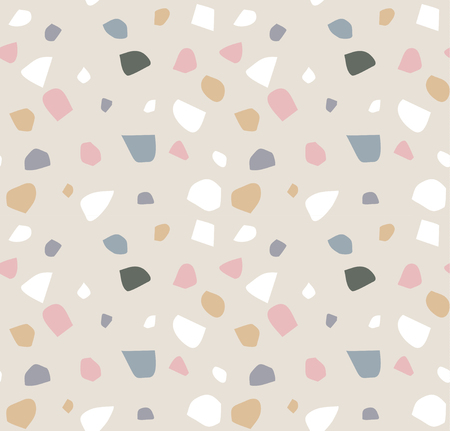 Terrazzo seamless pattern. Abstract background Illustration