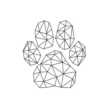 Buntes Pfotendesignlogo für Hemd; Kleider; Websites; Logo