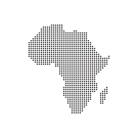 Dots Grey Map Africa vector Illustration