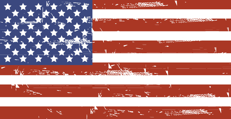 Grunge American flag.Vector dirty USA flag.