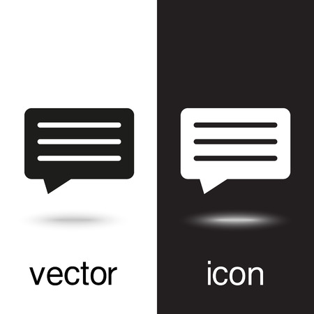 vector icon of chat, message Ilustrace