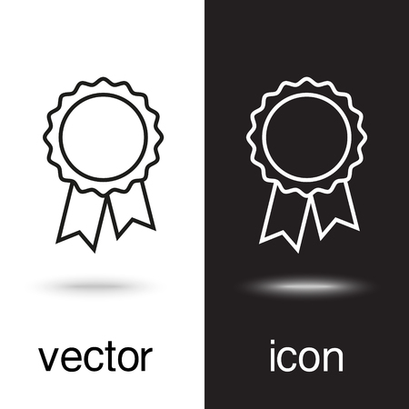 vector icon badge with ribbons