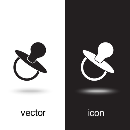 vector icon baby soother Imagens - 124971019
