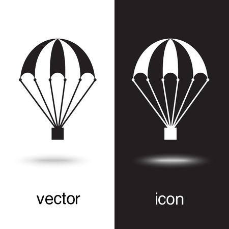 Vector icon of a parachute Illustration