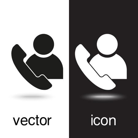 vector icon call user