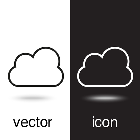 vector icon cloud weather