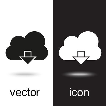 upload on cloud vector icon Ilustração