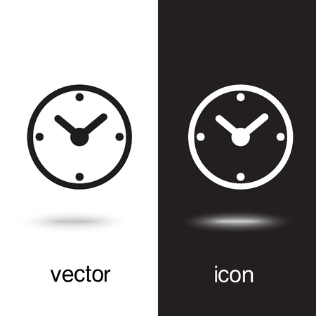 Vector clock icon Illustration