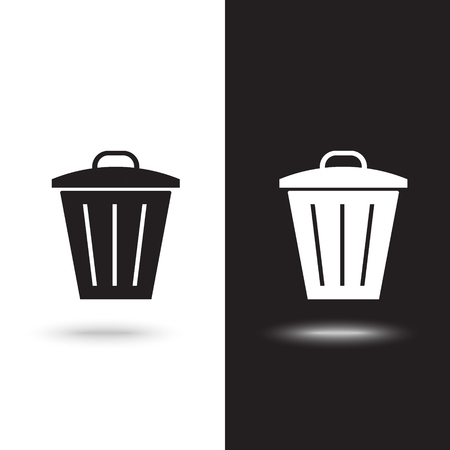 Vector icon of a trash can