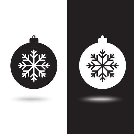 Vector icon christmas ball