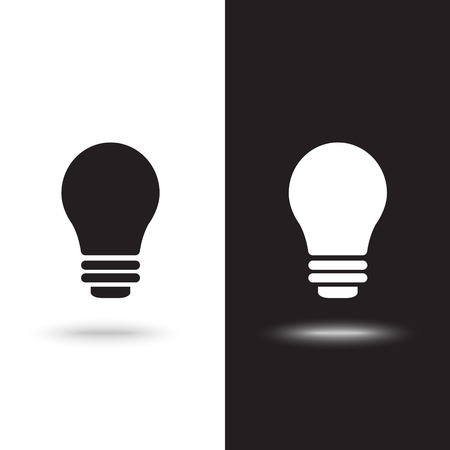 Vector icon light bulb