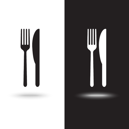 Vector icon fork with a knife  イラスト・ベクター素材