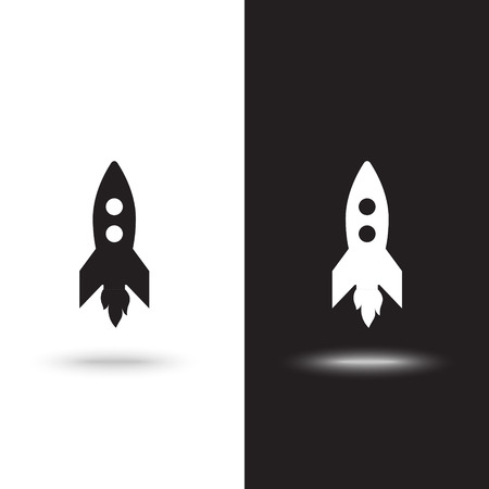 Rocket icon illustration isolated vector sign symbol