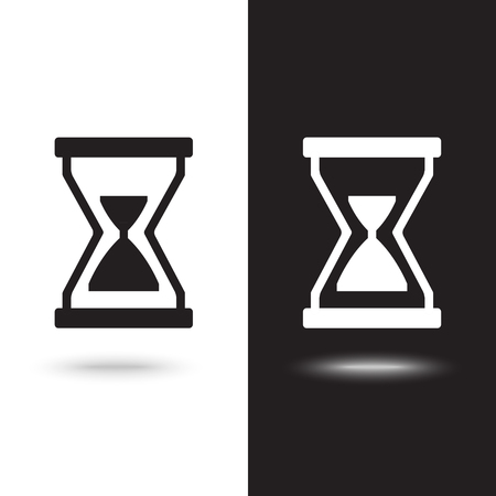 Illustration of hourglass icon on white background Stock Vector - 124935257