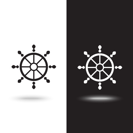 Vector icon nautical helm wheel