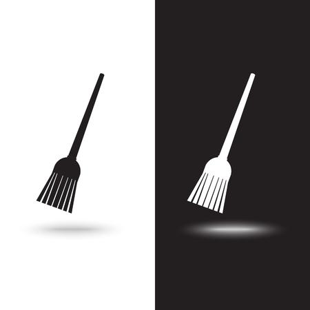 Broom icon Vector.